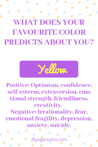 #Color Psychology #productivity Yellow- Positive: Optimism, confidence, self-esteem, extraversion, emotional strength, friendliness, creativity. Negative: Irrationality, fear, emotional fragility, depression, anxiety, suicide.