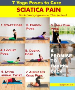 7 yoga poses to cure sciatica pain. These poses are the most effective poses as they help to remove stress from hips and back area. #Piriformis Stretch