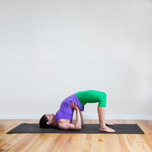 Bridge Pose-Yoga pose for Heart Chakra