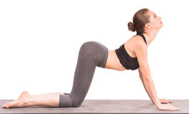 Cow Pose-Yoga pose for pregnant moms to ease morning sickness.