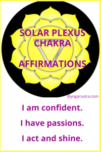 49 Powerful chakra balancing affirmations to thrive in your life. #Solar Plexus Chakra