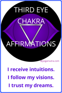 49 Powerful chakra balancing affirmations to thrive in your life. #Third eye Chakra