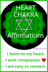 49 Powerful chakra balancing affirmations to thrive in your life. #Heart Chakra