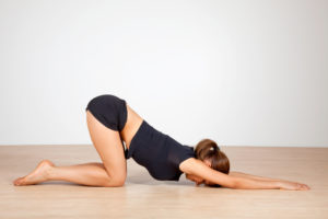 Anahata Pose aka Puppy Yoga Pose for Throat Chakra, fertility yoga