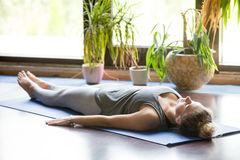 Savasana for throat chakra healing