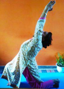 Ashwa Sanchalasana aka Low Launge in sun Salutations Cycle