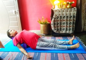 Fish pose or matsyendrasana