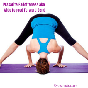 Prasarita Padottanasa aka wide legged forward fold