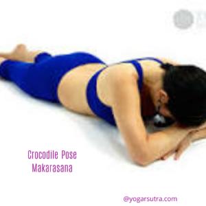 #Makarasana #Crocodile Pose