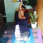 Seated Eagle yoga pose