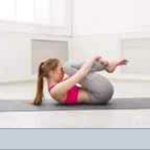 Wind relieving yoga posture