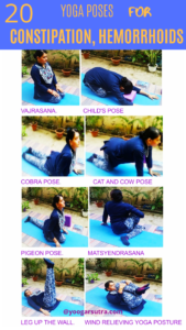 Yoga poses for constipation and hemorrhoid relief