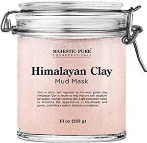 Clay mud face mask for beautiful face and skin