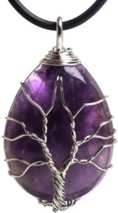 Amethyst crystal jewellery for Yogis as a holiday gift