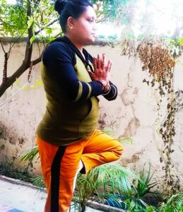 Tree pose or vrikshasan for concentration