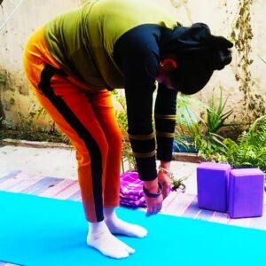 Yoga zombie to focus your brain