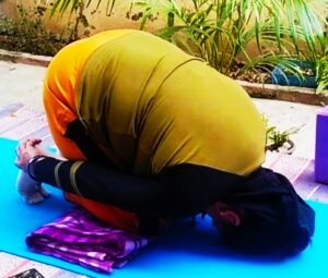 Shashank aasan or rabbit pose to Boost Your focus and concentration