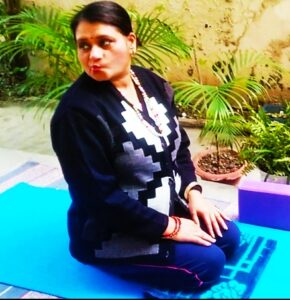 Side wall cases or kiss on wall face yoga posture