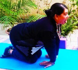 Lion's breath- face yoga for face lift