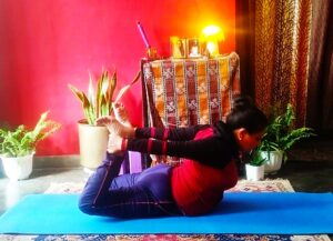 Bow pose are dhanurasan to stimulate your liver and other digestive organs