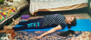 Savasana is a great posture forest rest release
