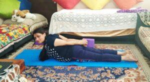 Cobra pose, yoga posture for diabetes prevention