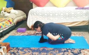 Mandookasana- yoga posture for diabetes prevention