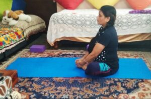 Butterfly pose- yoga posture for diabetes prevention
