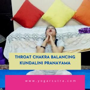 Chakra balancing kundalini Pranayam for throat Chakra
