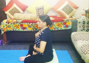Ujjayi breath for yoga and energy healing for post corona recovery.