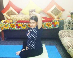 Hand stretch yoga Kriya for post corona illness recovery
