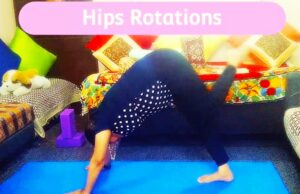 Hips rotation in downward facing dog pose, Vinyasa yoga flow for post covid recovery